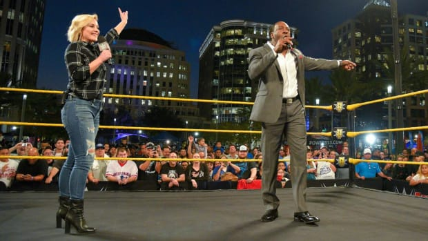 Renee Young and Booker T