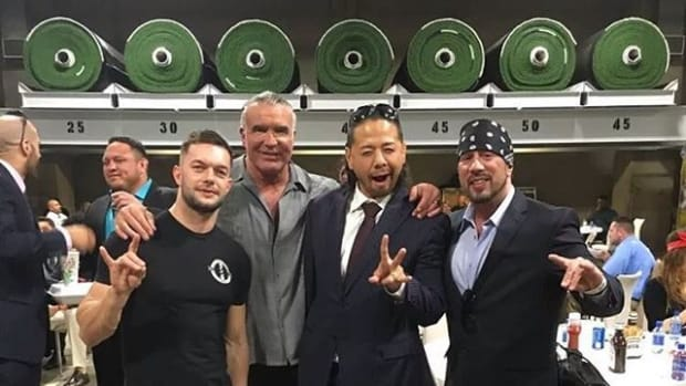Cesaro, Samoa Joe, Finn Balor, Scott Hall, Nakamura, Sean Waltman