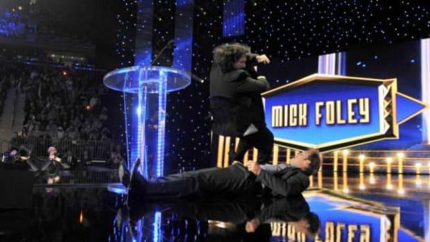 Mick Foley Drops Elbow