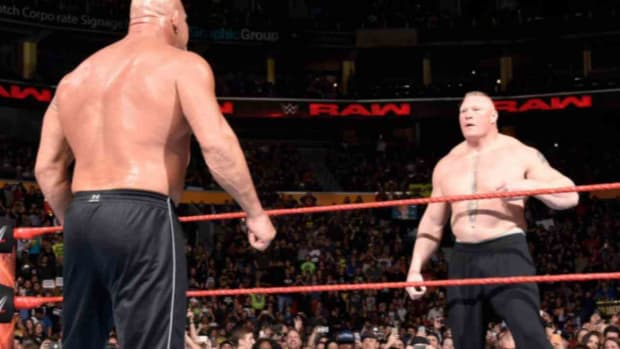Bill Goldberg and Brock Lesnar