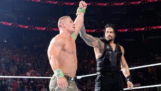 John Cena and Roman Reigns