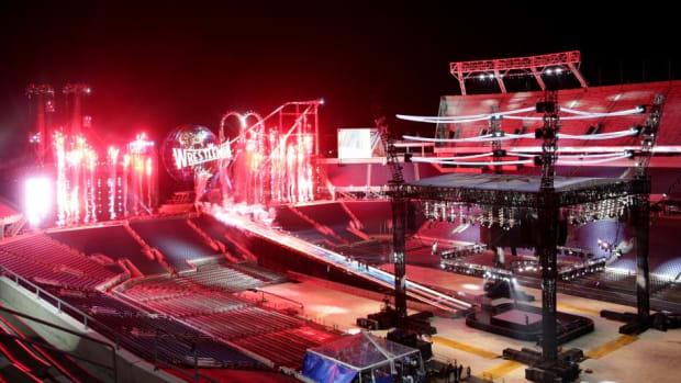 WrestleMania 33 set