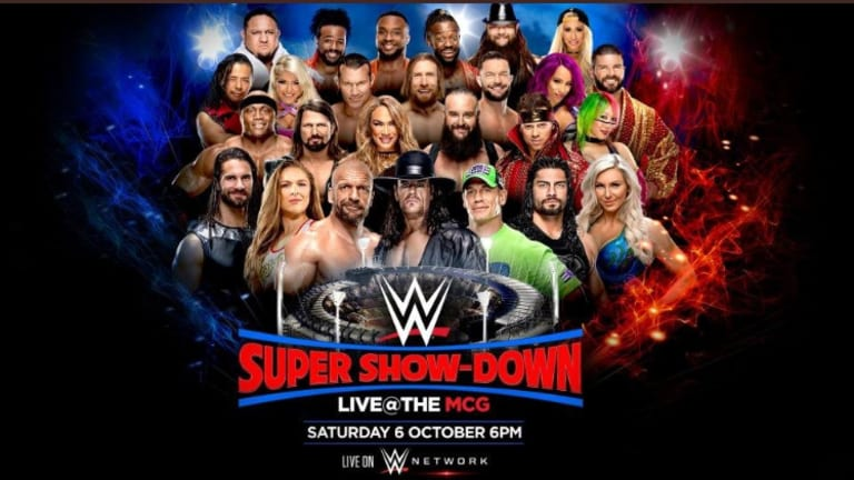 Updated Card for WWE Super Show-Down
