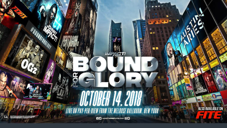 Bound For Glory Match Card (10/14/18)