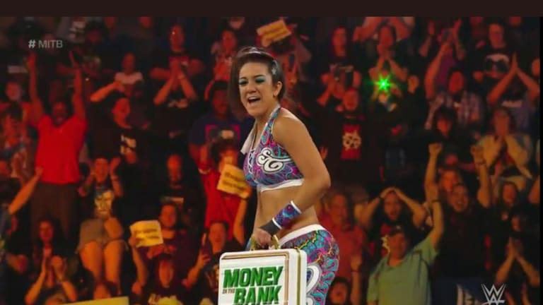 Bayley Wins The Women's Money In The Bank Ladder Match