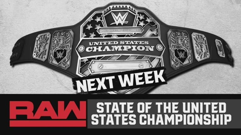 WWE To Address State of US Title on Next Week's Raw