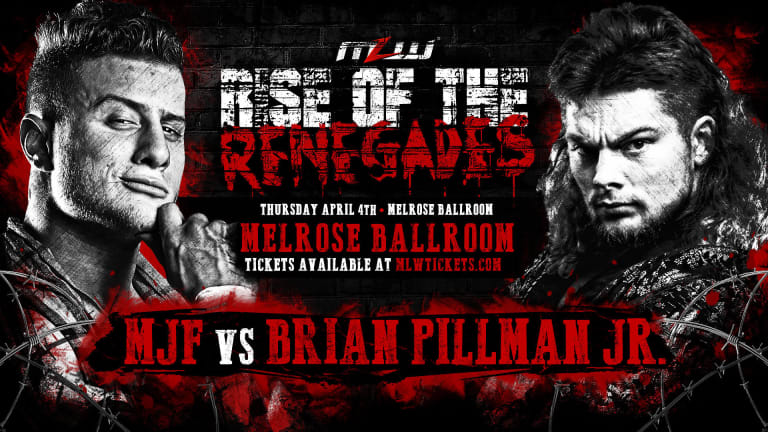 MJF vs. Brian Pillman Jr. signed for MLW's April 4 Rise of the Renegades card