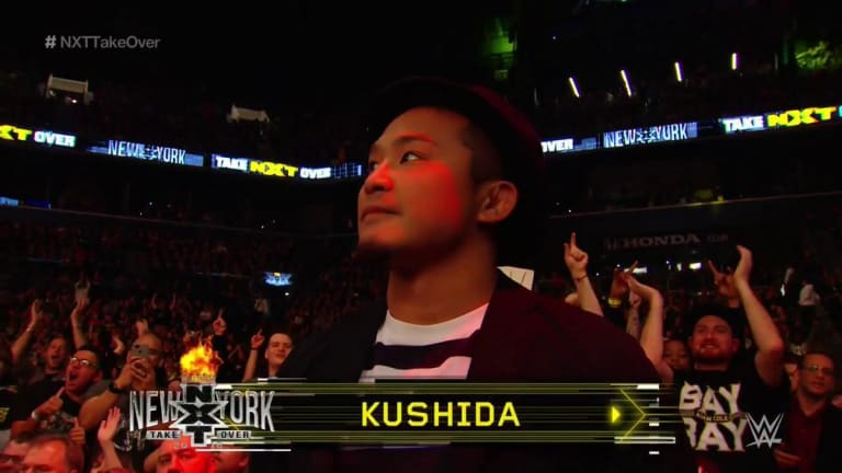 KUSHIDA is Introduced to the Live Crowd at TakeOver