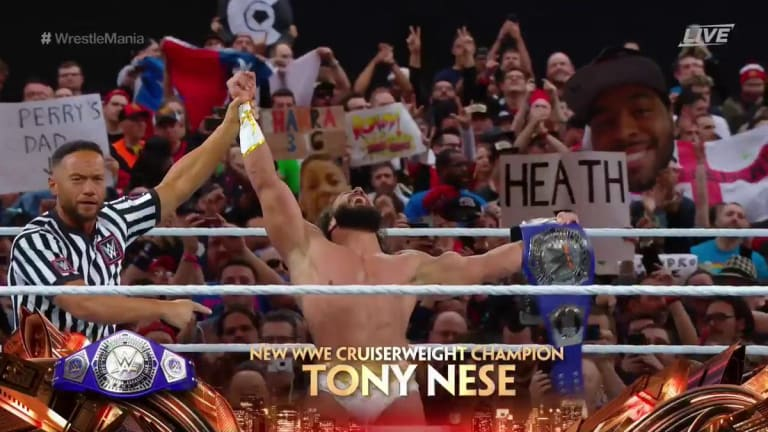 Tony Nese Wins the Cruiserweight Championship at Wrestlemania
