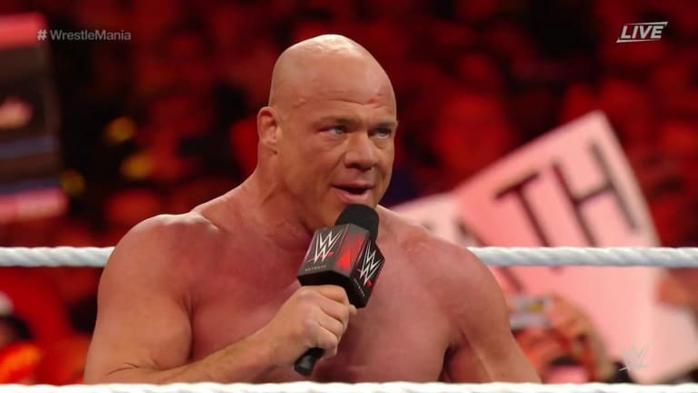 Kurt Angle Wrestles Last Match and Loses to Baron Corbin