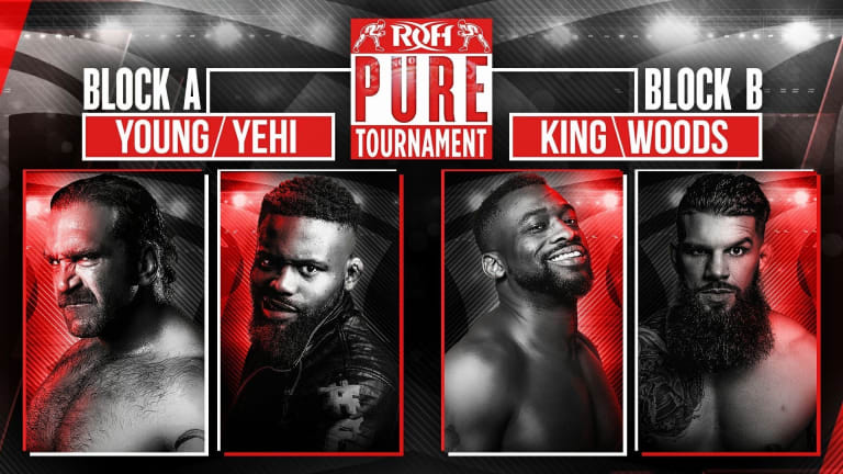 ROH Pure Tournament 1st Rd Cont. Yehi/Young & Woods/King Results