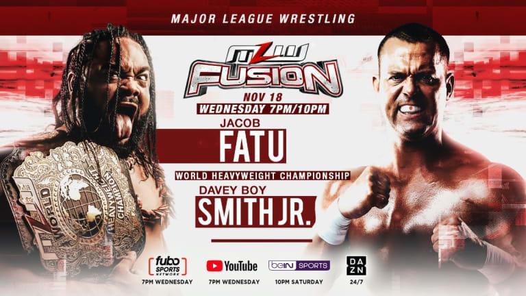 Davey Boy Smith Jr. Vs. Jacob Fatu For World Heavyweight Title Headlines MLW FUSION Nov. 18 The Restart