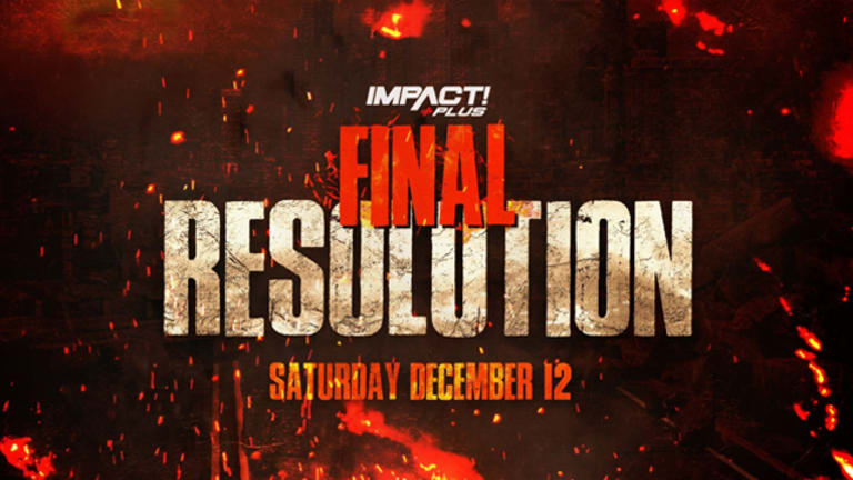 Official Card For Impact Wrestling's Final Resolution 2020