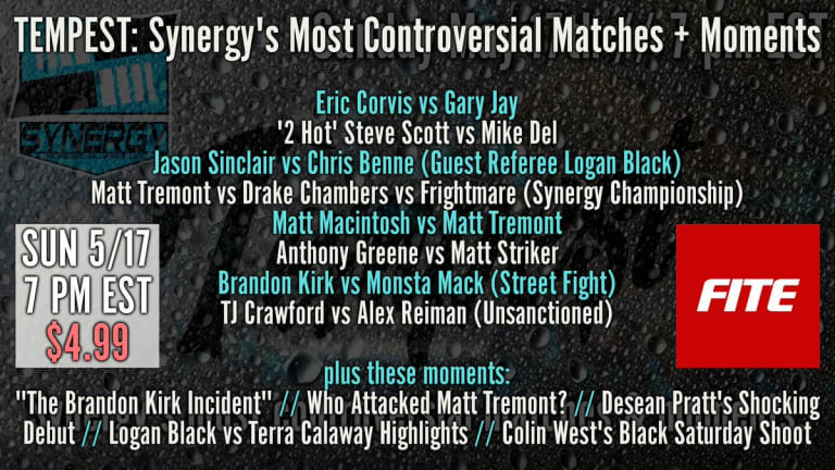 *LIVE Coverage* Synergy Pro Wrestling: Most Controversial Matches PPV