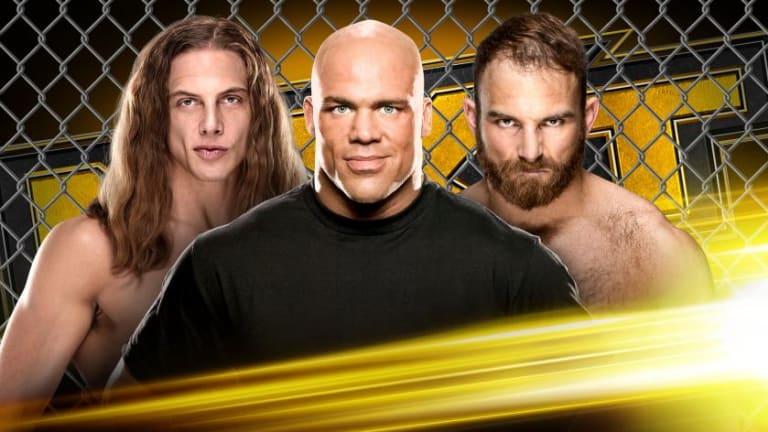 Kurt Angle To Referee Riddle Vs. Thatcher Cage Match On NXT