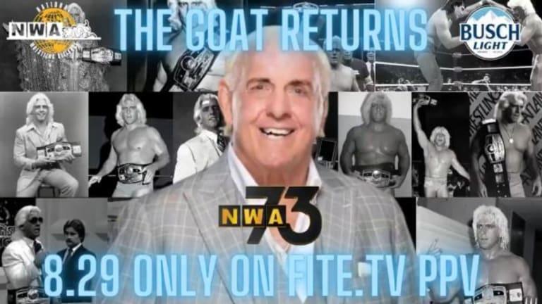 NWA and WWE Legend Ric Flair Returns Home at NWA 73
