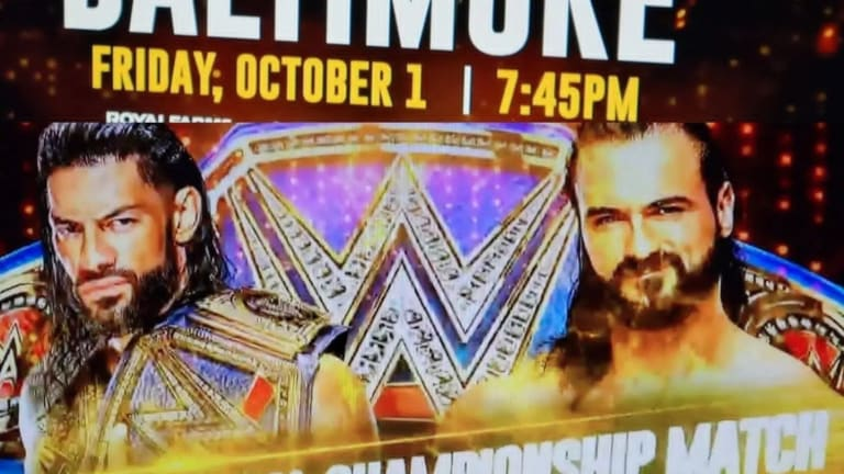 Local Ads In Baltimore Advertising Roman Reigns vs Drew McIntyre For The Universal Championship