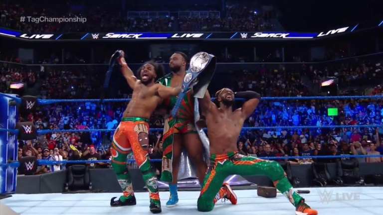 The New Day Captures The Smackdown Live Tag Team Championship