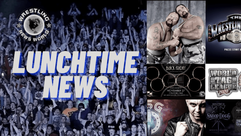 Lunchtime News 11.20.20 | Virtual Basement | NJPW World Tag & Super J 27 Standings | Taker & Snoop | Synergy BLACKFRIDAY News