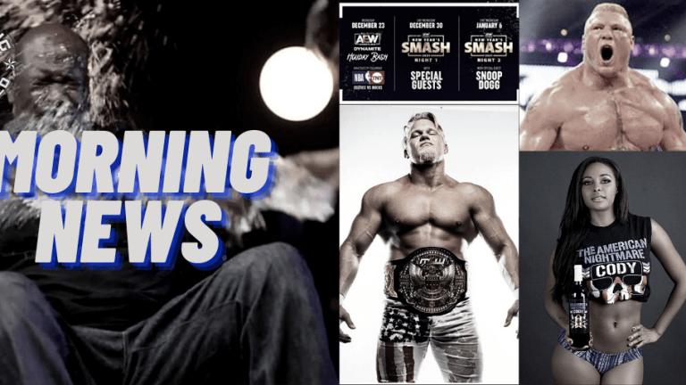 Morning News 12.10.20   Hammerstone In MCU   Brock Bidding War   Brandi On Shaq   AEW Holiday Schedule  