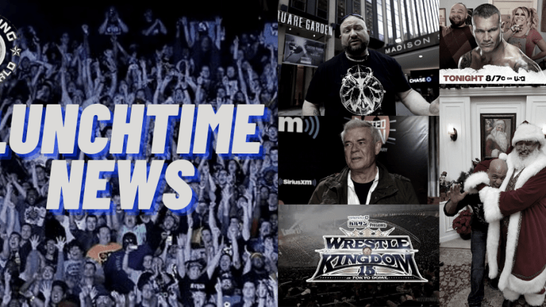 Lunchtime News 12.14.20   Wrestle Kingdom 15 Card   Bischoff on Bully Ray   Angle v. Santa   RAW Preview
