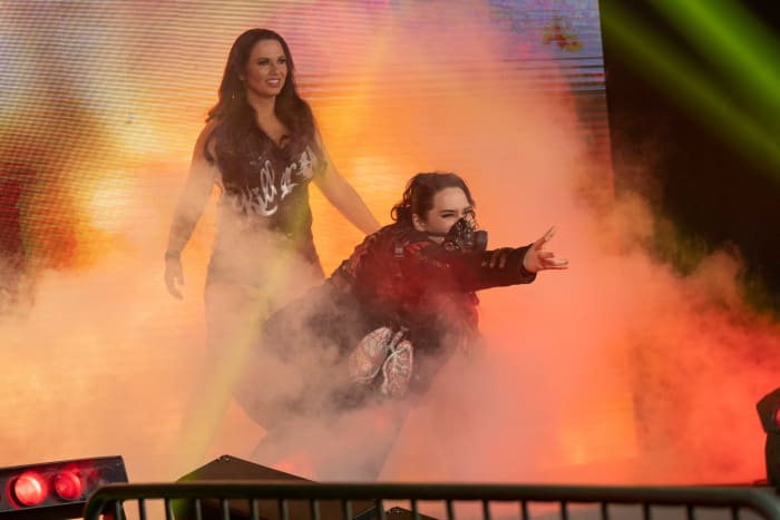 This dynamic tag team took on their fierce rivals of Kiera Hogan and Tasha Steelz. With Steelz introducing a steel chair, Havok and Nevaeh picked up a DQ win but they also left their opponents laid out in the ring. This rivalry is far from over!