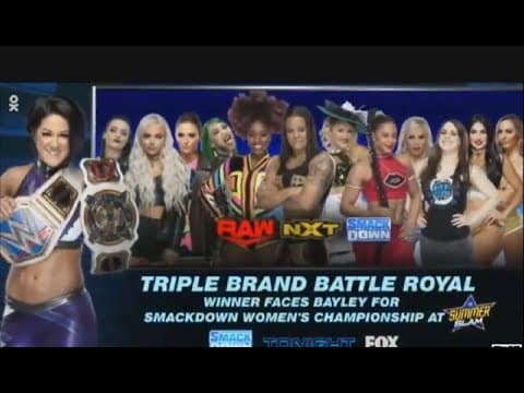 Although I'm not happy with the result ( being a Baszler fan) this was a fantastic match and really brought something different to the card. I was definitely looking forward to this match and I wasn't disappointed. They showcased the NXT talent very well and it was fun seeing some of my favourite superstars from different brands collide. It was very predictable that Asuka was going to win but I still enjoyed the match. I'm not happy that Shayna picked up another loss in a high stakes situation but her time will come eventually and I'm trying not to be too upset about it. I've always been a big fan of battle royals because we get to see different match combinations that we may never get to see again for example Bianca Belair and Tamina, two powerhouses going at it. One thing I'm really enjoying in WWE is how much TV time the women have received recently and it doesn't feel forced, they really deserve to be on TV and they're proving it by putting on amazing matches. I'm really looking forward to seeing the women's division in WWE continue to grow.