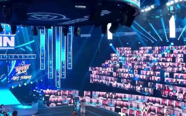 I don't want to be someone who is shooting this down without giving it a chance but so far I'm not really a fan of it aesthetically. I think it's a great opportunity for the fans to interact and many people will be excited about it but I just think it's a little distracting especially with the same people on multiple screens or the members of the WWE universe that are falling asleep live on TV. I think if more people get involved and look like they're having fun it will improve. Maybe it's something we just need to get used to. I'm willing to give it a few weeks before I make a final judgement.