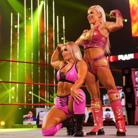 Finally I feel as if someone is answering my prayers. More opportunities for the neglected women on smackdown and more tag teams on Raw for Shayna and Nia to destroy. Thank you! After the disappointing news that Shayna and Nia weren't medically clear to defend the titles on Sunday I was really worries that we would see a big drop in female segments on Raw this week. I was so wrong, as announced by the Miz , Mandy Rose is the newest Raw superstar but she didn't come alone. Dana Brooke is on Raw. I am a big fan of Brooke as I think she has massive potential and is really relatable. She comes across as a really down to earth person and I admire that about her. I wonder why she hasn't become a bigger star because I think she's pretty well-rounded. This team excites me because I know production is really behind Mandy Rose so this team will hopefully add a lot to the women's tag team division. More than Lana does anyway...
