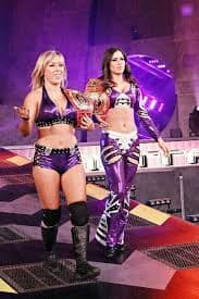 This team makes the list for Greatest Knockouts Tag Team Champions of all time because they were the inaugural champions and would go on to hold the titles for 106 days. They won the titles after defeating The Beautiful People in the finals at the No Surrender PPV. During the tournament, they would defeat the favorites to win the titles which were the team of Awesome Kong and Raisha Saeed in the semi-finals. During their reign, they would go on to feud with the likes of The Beautiful People. They would even defeat The Beautiful People again alongside ODB in a winner takes all match at Turning Point. This reign being the first really established the titles and put them on the map.Sarita and Taylor Wilde Become First-Ever Knockouts Tag Champions: