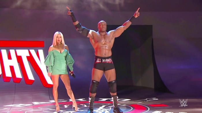 "Number 5. Lana Costs Bobby Lashley The Title:Lana and Lashley have been at odds as of late since MVP has taken over the managerial duties of The Almighty. Lana has been visibly upset on screen as of late over her ""husbands"" decision to keep her backstage during his matches. Lashley is finally getting a shot at the WWE Title and this is one of his biggest matches ever. This would be a perfect spot to have Lana cost Lashley the championship and move toward his next feud with her aligning with a new or former acquaintance."
