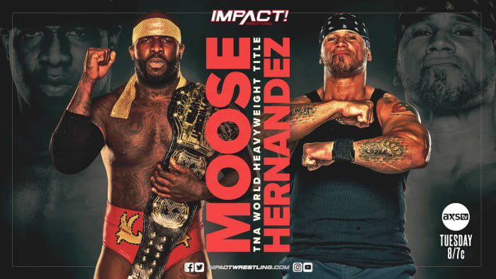 Moose successfully defended the TNA World Heavyweight Championship in a hard hitting match against Hernandez. The major news is what happened after the match. After the match instead of playing Moose's music they would play the music of former TNA champion EC3. Could we be getting Moose vs EC3 at Slammiversary? Is EC3 even back in IMPACT?