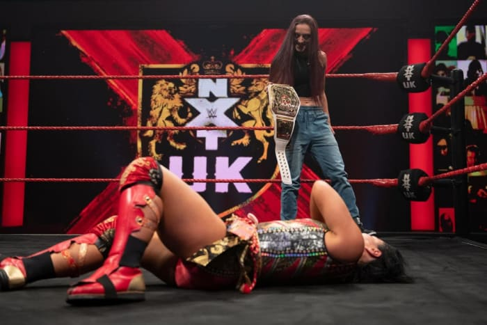 I am in two minds about this, I'm a little bit disappointed at how predictable it was, since that isn't usually NXT's style. NXT UK is really good at giving opportunities to so many people and I was hoping it would have been Valkyrie replacing Xia Brookside to win since she hasn't had a title opportunity yet. I don't really want to see a match we've only just recently watched again, however, I can't really complain since the first time these two faced off it was amazing and a part two, I'm sure, will also be amazing. I still hold on to hope that they're saving KLR vs Valkyrie for the return of NXT UK Takeover when it is safe.