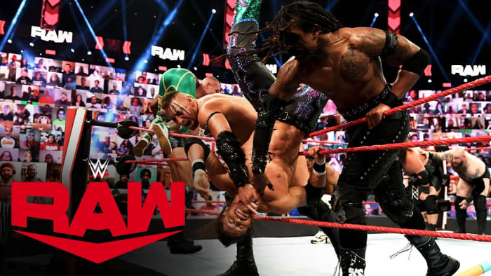 I personally loved the start of Raw this week. I think it was much more exciting than the usual promos for the first 15 minutes. It was a great way to kick off the show. AJ is so entertaining and The New Day's remarks were also hilarious the whole atmosphere was really fun, the chemistry between Riddle and Orton is starting to grow on me now and add the Miz and Morrison it's just total chaos! I loved the match and it was really nice seeing the tag division feel important.