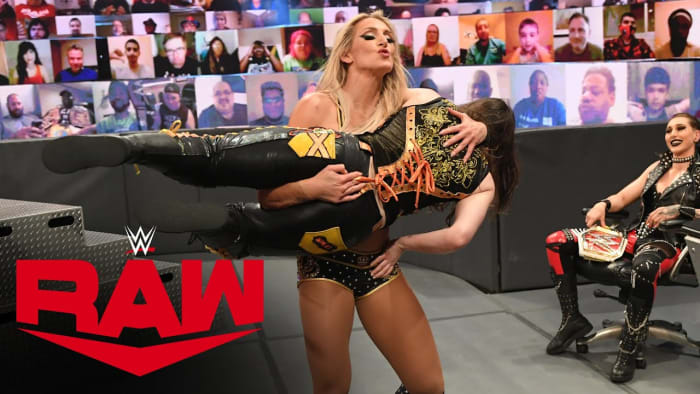 This really did make me chuckle. The record books are going to keep adding wins for Nikki because Charlotte can't focus. Her being counted out for gloating is just hilarious and I think Rhea's reaction made it 10 times better. I loved the amount of women's matches on Raw this week, this is what I want to see. I was very happy with most of them. I will be looking forward to this one tonight.