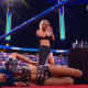 Who's idea was this? Carmella really threw a celebration for her win 2 days before the match. You can't make this stuff up. To start I really dislike Carmella's new entrance, it's so weird. I'm sorry but I find no entertainment in listening to Carmella talk about champagne or how hot she is. Tonight is her last chance to impress me. In terms of promo work and character I really can't get behind her but if she does well in the ring that will go a long way in gaining my respect. She is stepping in with one of the best wrestlers in WWE and she needs to start taking this more seriously.