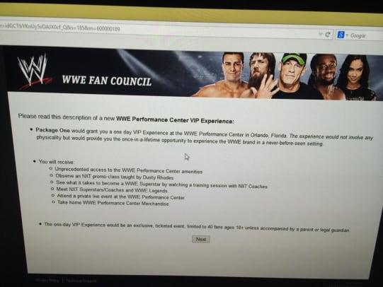 WWE Fantasy Camp 2