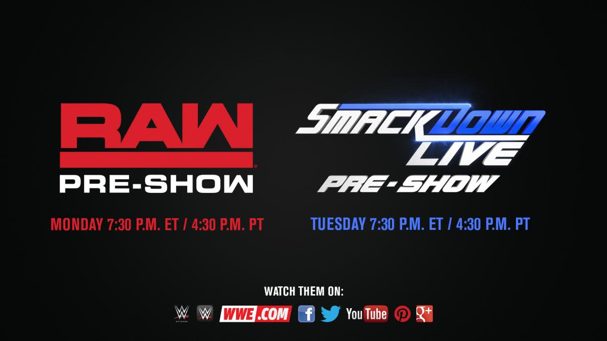 Raw & Smackdown Live Pre-Shows