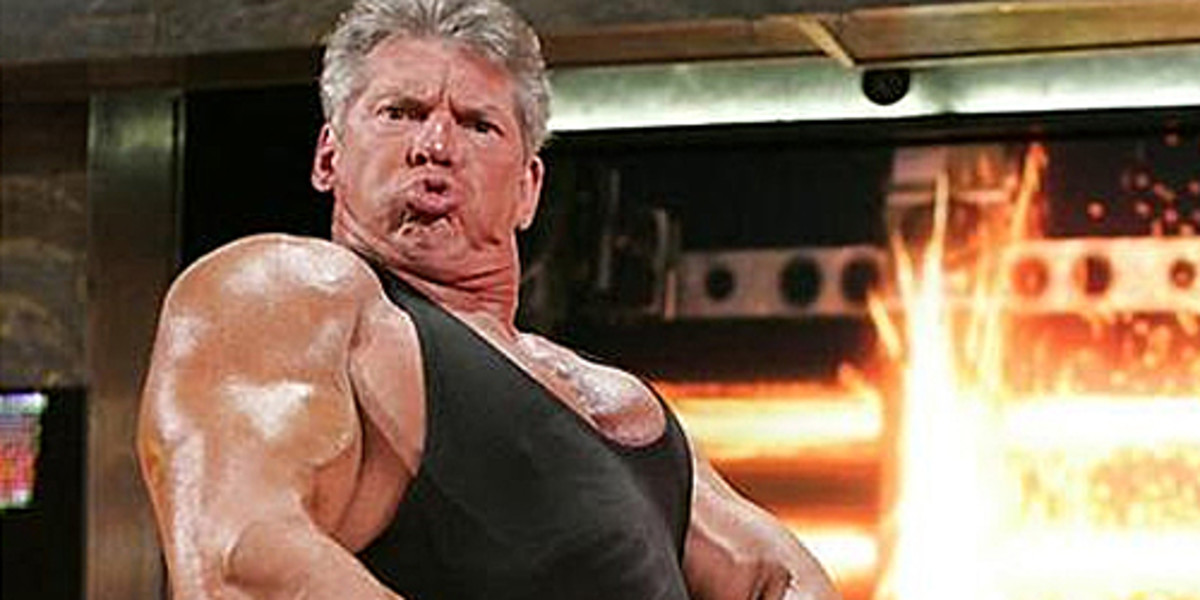 Vince McMahon Flexing