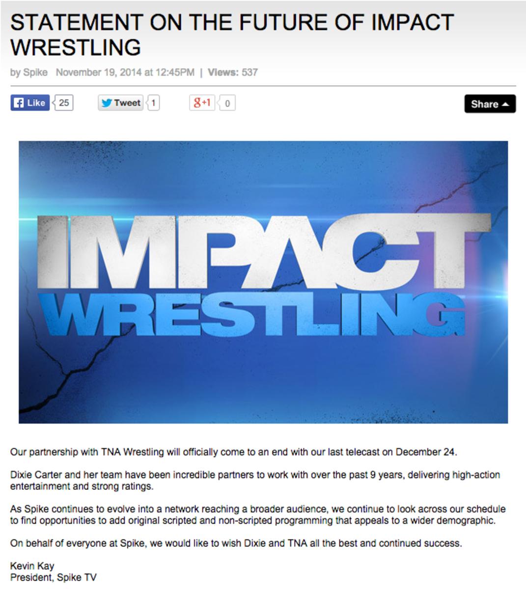 Goodbye TNA