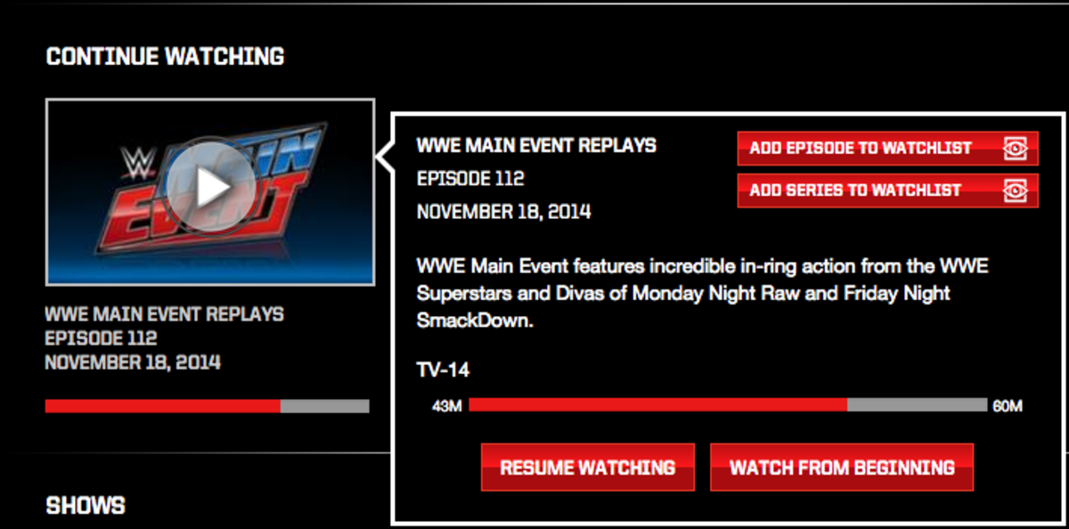 New WWE Network Features