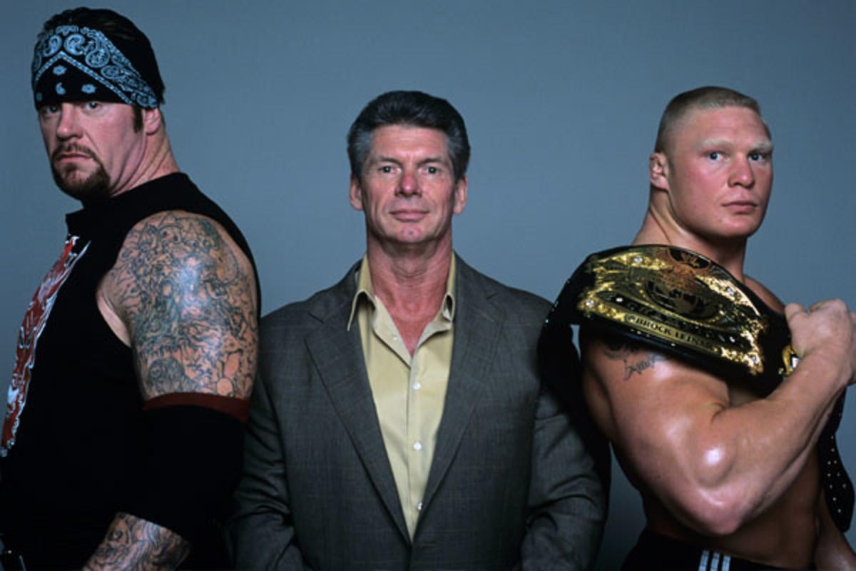 Undertaker, Vince McMahon & Brock Lesnar
