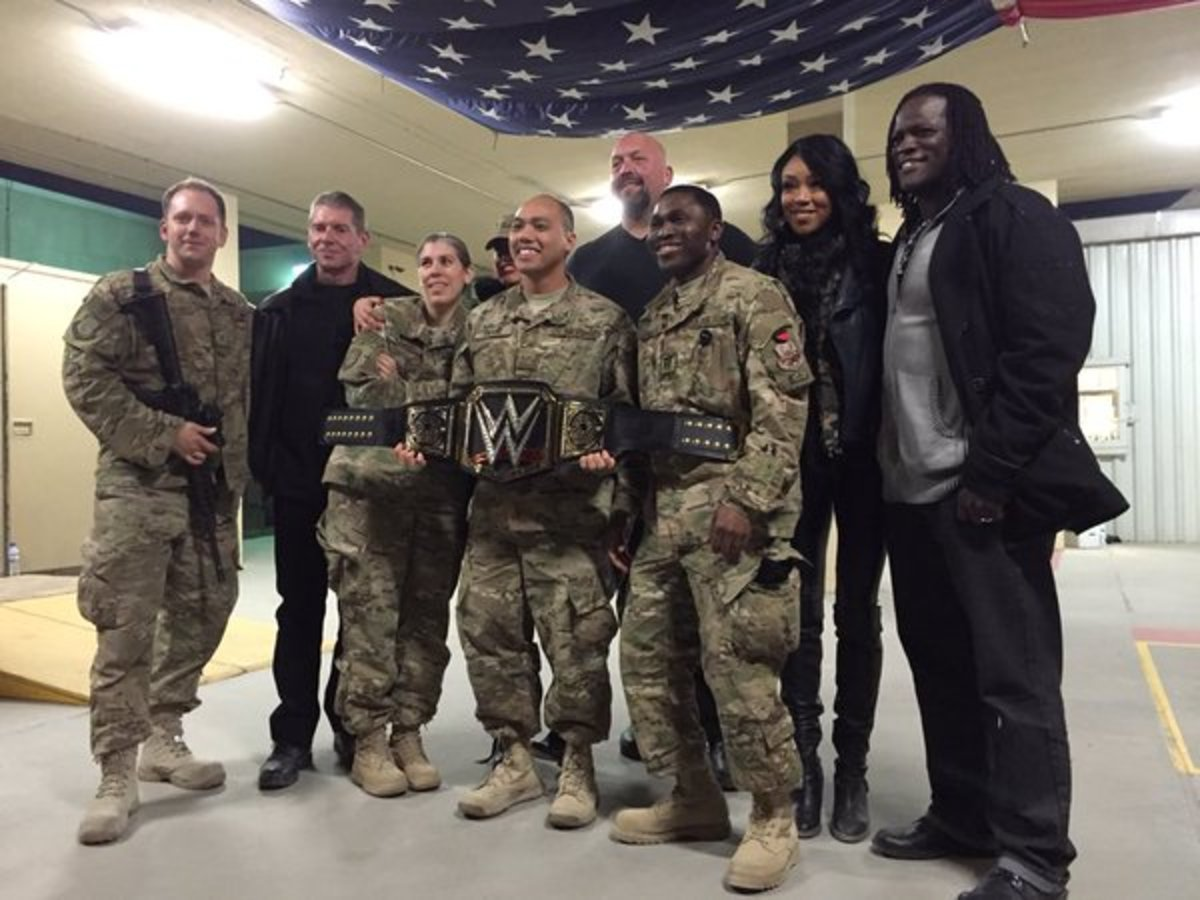 Vince McMahon Meets Troops