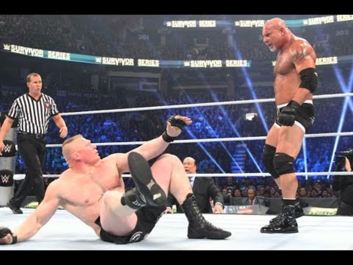 Goldberg and Brock Lesnar