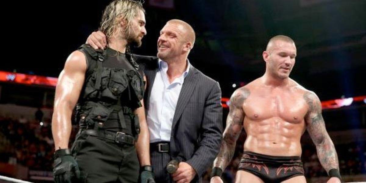 Seth Rollins, Triple H & Randy Orton