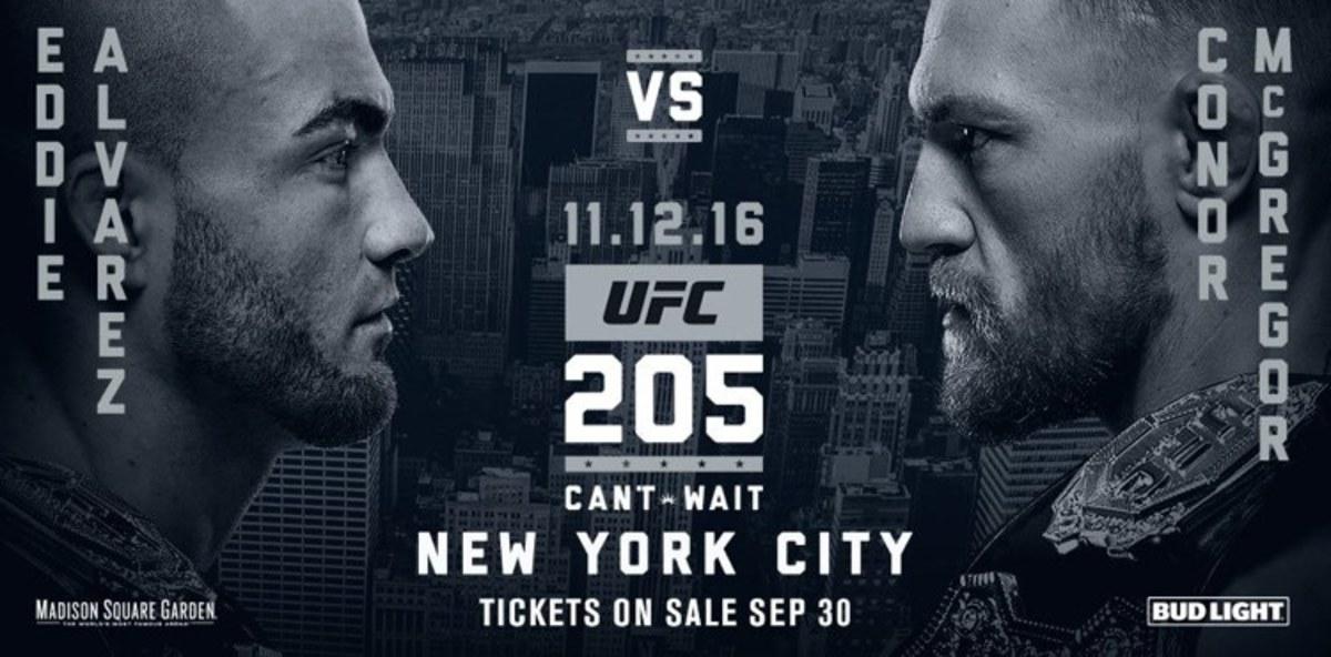 UFC 205 Poster