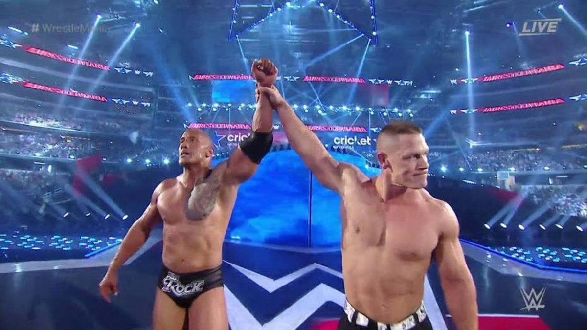 The Rock and John Cena