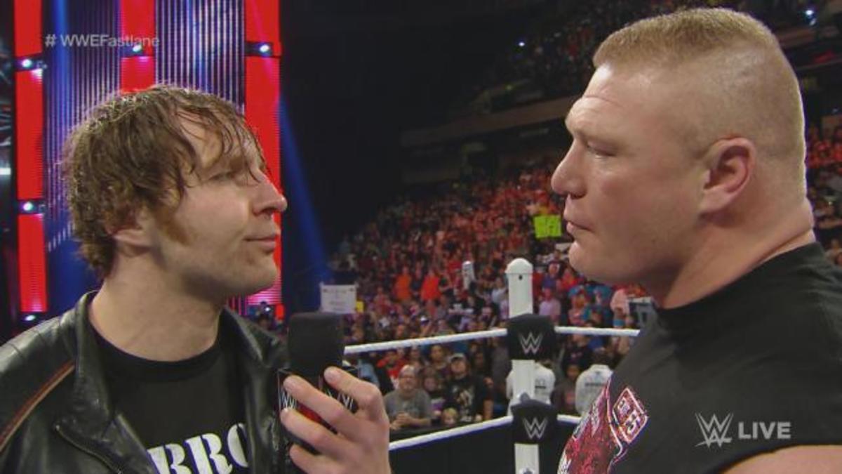 Dean Ambrose & Brock Lesnar