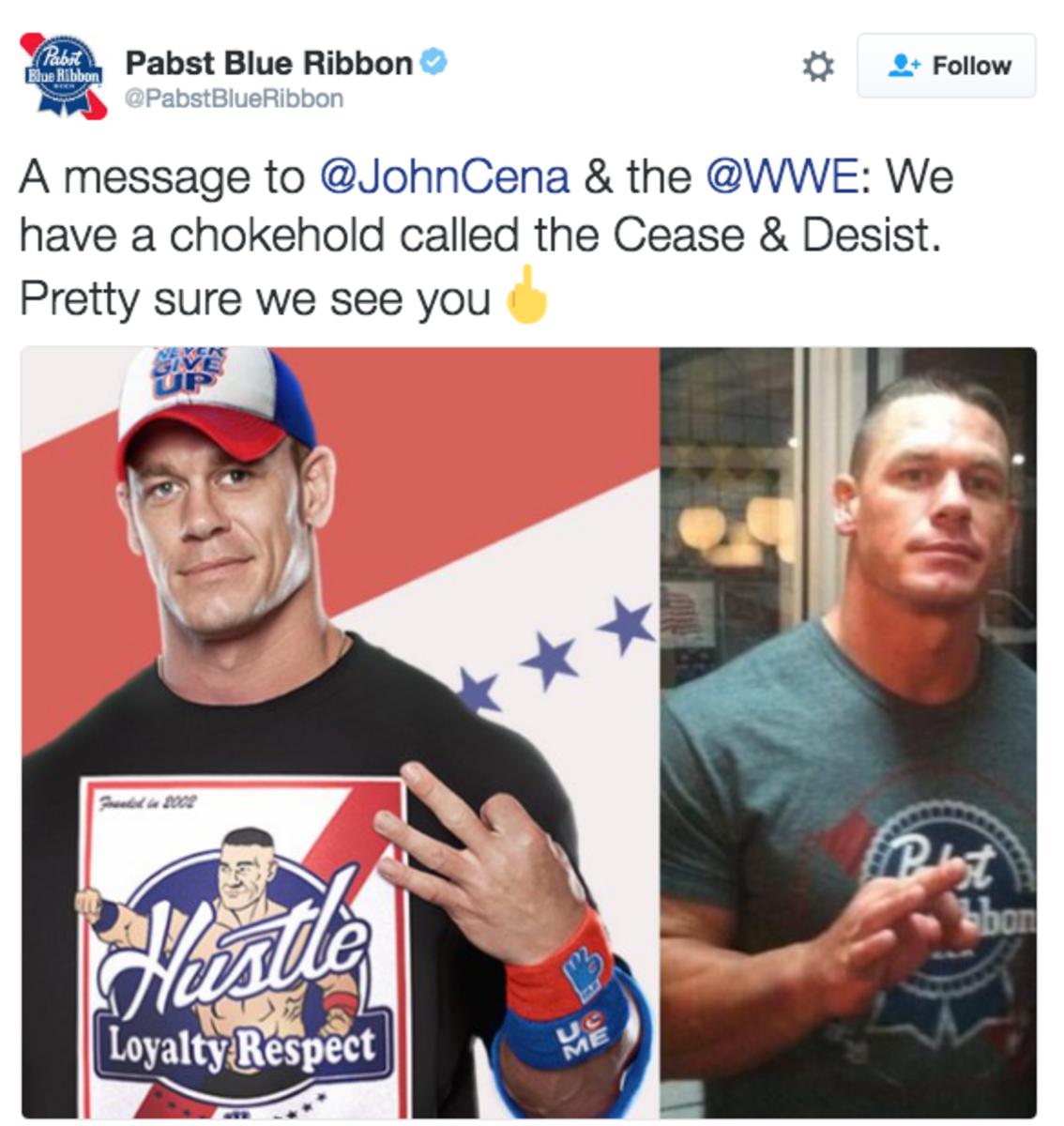 PBR vs. John Cena
