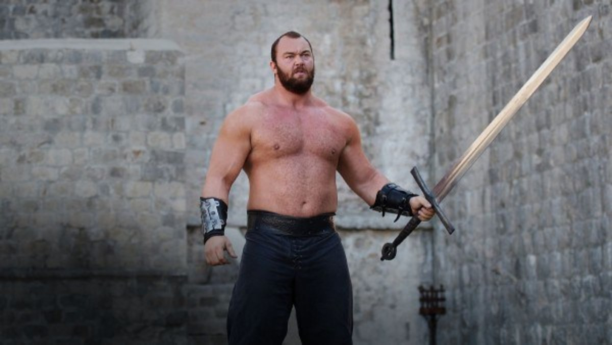 A shot of Hafthór as The Mountain in Game of Thrones